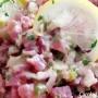 Tartare di tonno con capperi e cipolla rossa di Tropea